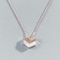 Catalina Howlite Arrow Pendant in Rose Gold