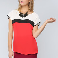 Vivid Panel Point Blouse