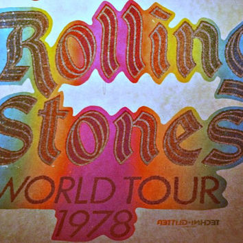 ROLLING STONES 1978 Vintage 70s Band t-shirt iron-on nos rock concert retro tee Mick Jagger