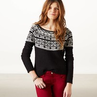 AE FAIR ISLE CREW SWEATER