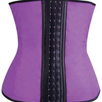 Gym Work Out Waist Trainers Purple Lg
