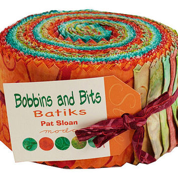 Bobbins and Bits Batiks Jelly Roll by Pat Sloan for Moda Fabrics