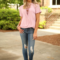 festival ready top - dusty rose