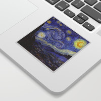 Vincent Van Gogh Starry Night Sticker by artgallery