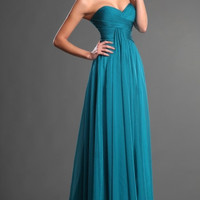 Simple chiffon  Prom Dress/Evening party Dresse/Homecoming dresses/bridesmaid dress strapless