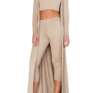 Georgina Cardigan/Wrap Dress- NUDE