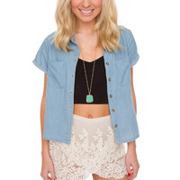 Deanna Denim Top