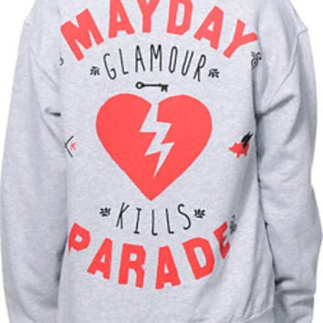 Glamour Kills x Mayday Parade Heather Grey Crew Neck Sweatshirt at Zumiez : PDP