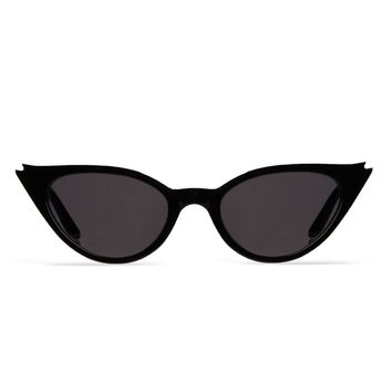 Illesteva Isabella 52mm Black Sunglasses / Grey Flat Lenses
