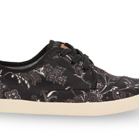 Black Canvas Floral Women's Paseos