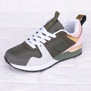 Louis Vuitton LV New Fashion Sports Leisure Running Contrast Color Shoes