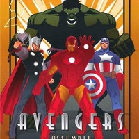 The Avengers Art Deco Marvel Comics Poster 24x36