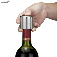 Keythemelife Stainless Steel Vacuum Sealed Red Wine Bottle Spout Liquor Flow Stopper Pour Cap Hot Sale
