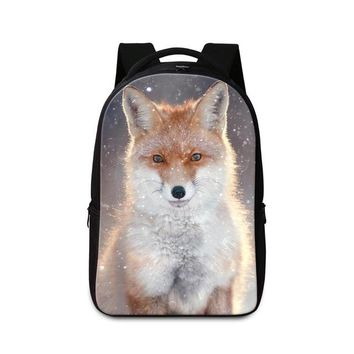 University College Backpack Large Animal  for High Class Students Fox School Bags for Boys Laptop Back Pack for Teen Girls  Bookbags MochilasAT_63_4