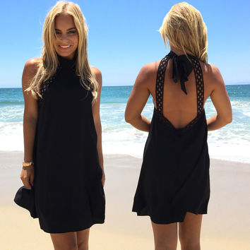 Taken Back Dress In Black