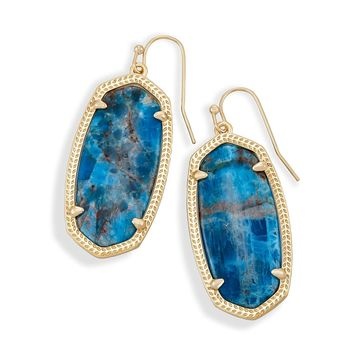 Kendra Scott - Limited Winter Seasonal - Elle Aqua Apatite Gold Drop Earrings