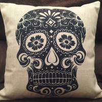 Sugar Skull Cushion Cover
