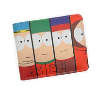 Anime Cartoon Wallet South Park Coin Purse Men Womens Wallets and Purses With Card Holder Coin Pocket