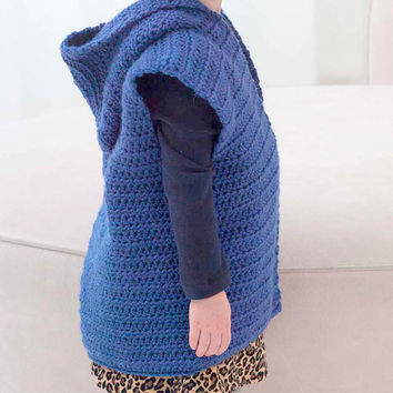 Baby Girls/Boys Hoodie Sweater Crochet Hooded Vest Cardigan Jacket with Hoodie Knit Jacket  Baby to Adult  Sizes