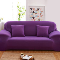 Sofa Cover Sofa Slipcover Solid Elastic Single/Two/Three/Four-Seater Stretch Scenic 21colors Funda Sofa Couch Cover Capa De Sofa