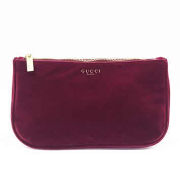GUCCI Fashion new velvet cosmetic bag women clutch chain shoulder bag