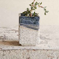 Casual Seance Handmade Geo Ceramic Planter- Blue One