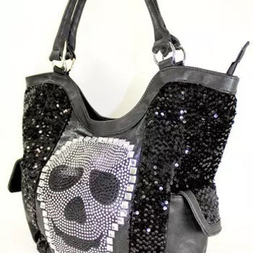 Sugar skull large purse
