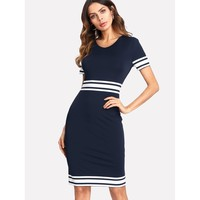 The Way You Work Dress - Navy