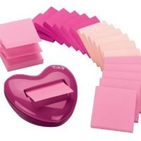 Amazon.com: Post-it Pop-up Notes Value Pack, with Heart Shaped Dispenser, 3 x 3-Inches, Assorted Pink Colors, 18-Pads/Pack: Office Products