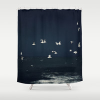 azul Shower Curtain by Ingrid Beddoes