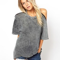 ASOS | ASOS Top in Acid Wash with Cut Out Back at ASOS