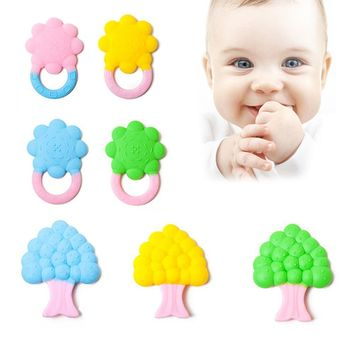 Natural Organic Pain Relief Tree Sun Flower Teething Toys