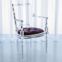 Global Views Marilyn Acrylic Sultana Lavender Arm Chair