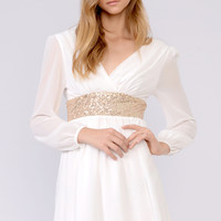Sleeve Chiffon Dress