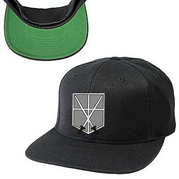 ATTACK ON TITAN SNAPBACK HAT, SURVEY CORPS, SHINGEKI NO KYOJIN, SURVEY, CORPS, E