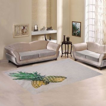 Pineapples Fabric Area Rug 7'x5'
