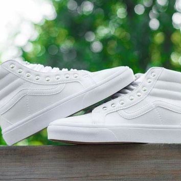 MDIGONS Vans CUSTOMIZE Customs Sk8-Hi All White ZY-041 Sneaker Casual Shoes