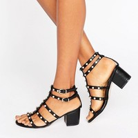 ASOS HOTSPOT Strappy Embellished Block Heel at asos.com