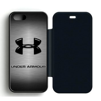 Under Armour Logo Leather Wallet Flip Case iPhone 5 | 5S