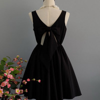 A Party V - Lolita Dress Sweet Lolita Backless Dress Black Bridesmaid Dress Little Black Party Dress Black Little Black Dress XS-XL