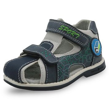 New Kids Shoes Pu Leather Toddler Boys Sandals Orthopedic Closed Toe Flat Children's Shoes for Boys