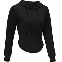 Solid Crop Top Pullovers Casual Women tracksuit
