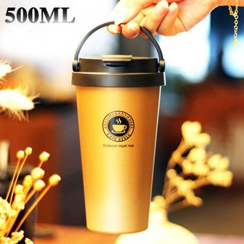 Vacuum, Insulated, Travel, Coffee Mug (500ml)