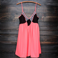 spring fling neon coral dress
