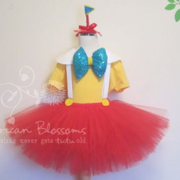 SET Tweedle Dee and Dum Costume Tutu Skirt Baby Girls Toddler Alice in Wonderland Recital Halloween Circus theme by American Blossoms