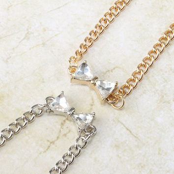 Her Highness Bow Short Necklace