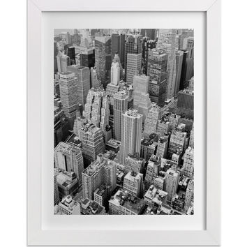 New York Architecture and Landscape Photograph, Black and White NYC Fine Art Print, Geometric, Minimalist Art, Aerial