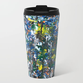 Color Splash Vibes Metal Travel Mug by Artist CL