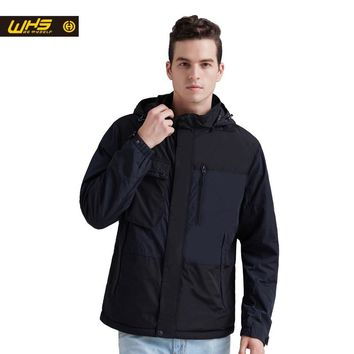 WHS 2018 New Men thin cotton Jacket Autumn outdoor Windproof  warm coat Spring Male mens  camping clothes hiking jackets hot