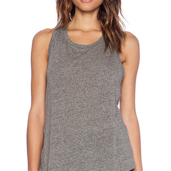 Enza Costa Racer Tank in Gray